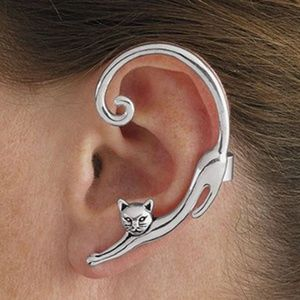 Jewelry - Silver cat full ear pierced earring